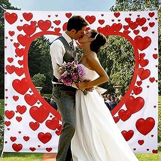 Hochzeitsherz zum Ausschneiden für das brautpaar Hochzeitsherz laken mit Herz zum Ausschneiden Herz Hochzeitsspiel für Braut und Bräutig Bedrucktes Bettlaken Hochzeitslaken Hochzeitsbrauch 200  180cm
