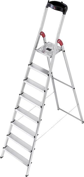 scala in alluminio con 8 gradini hailo 8160 – 801 l60 8160-801