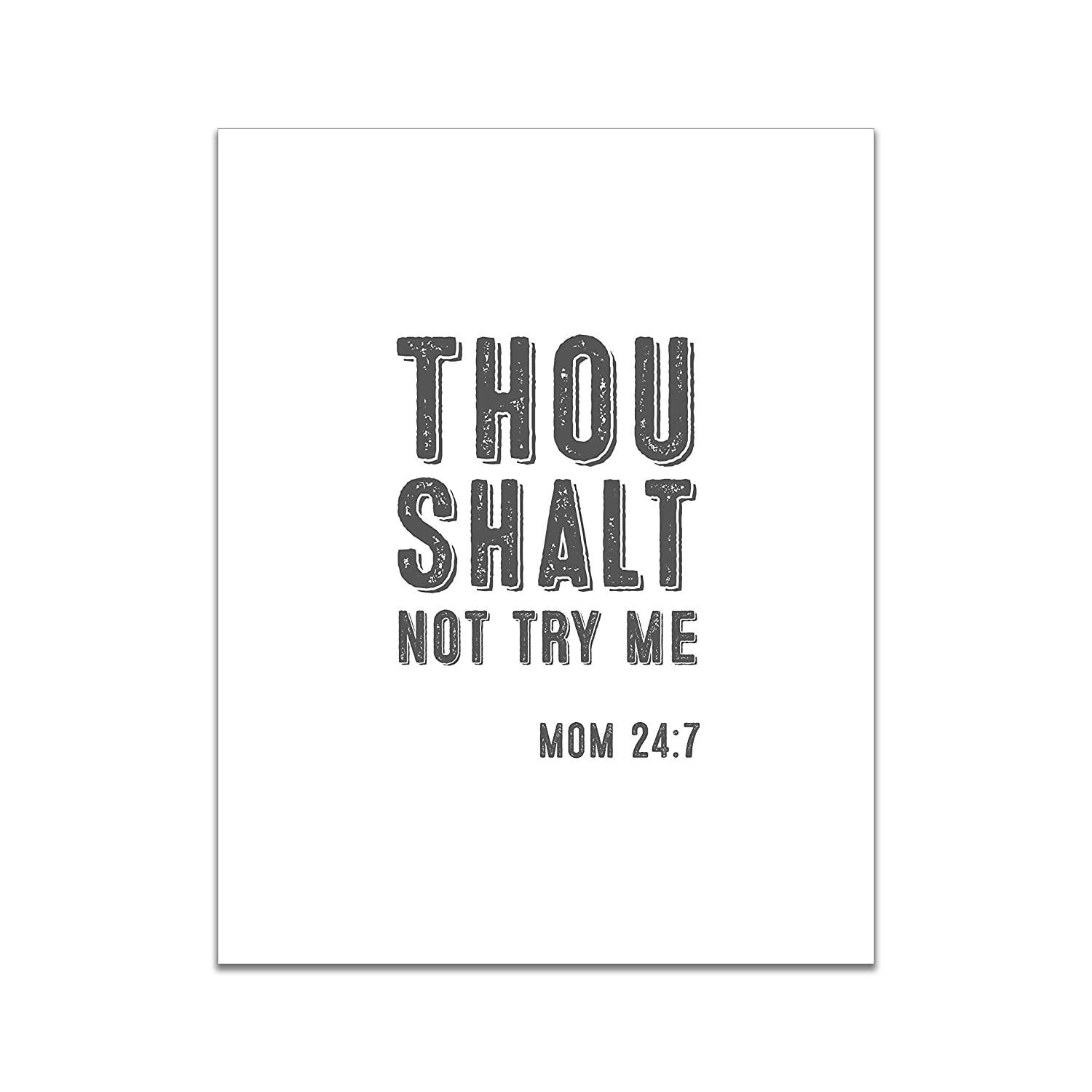 Thou Shalt Not Try Me - Now on sale Gift Decor Sign Tampa Mall Home U Funny for Mom