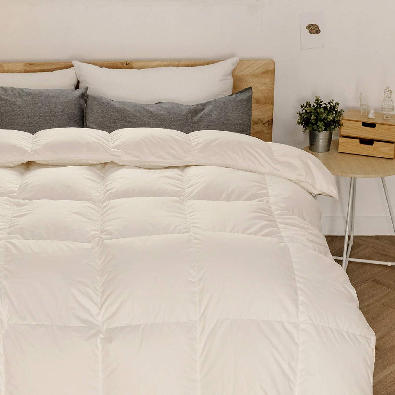 White Antar Home Ultra Lightweight All Season Down Comforter 100/% Cotton Shell Duvet Insert Queen Hypoallergenic Real Filling White Down