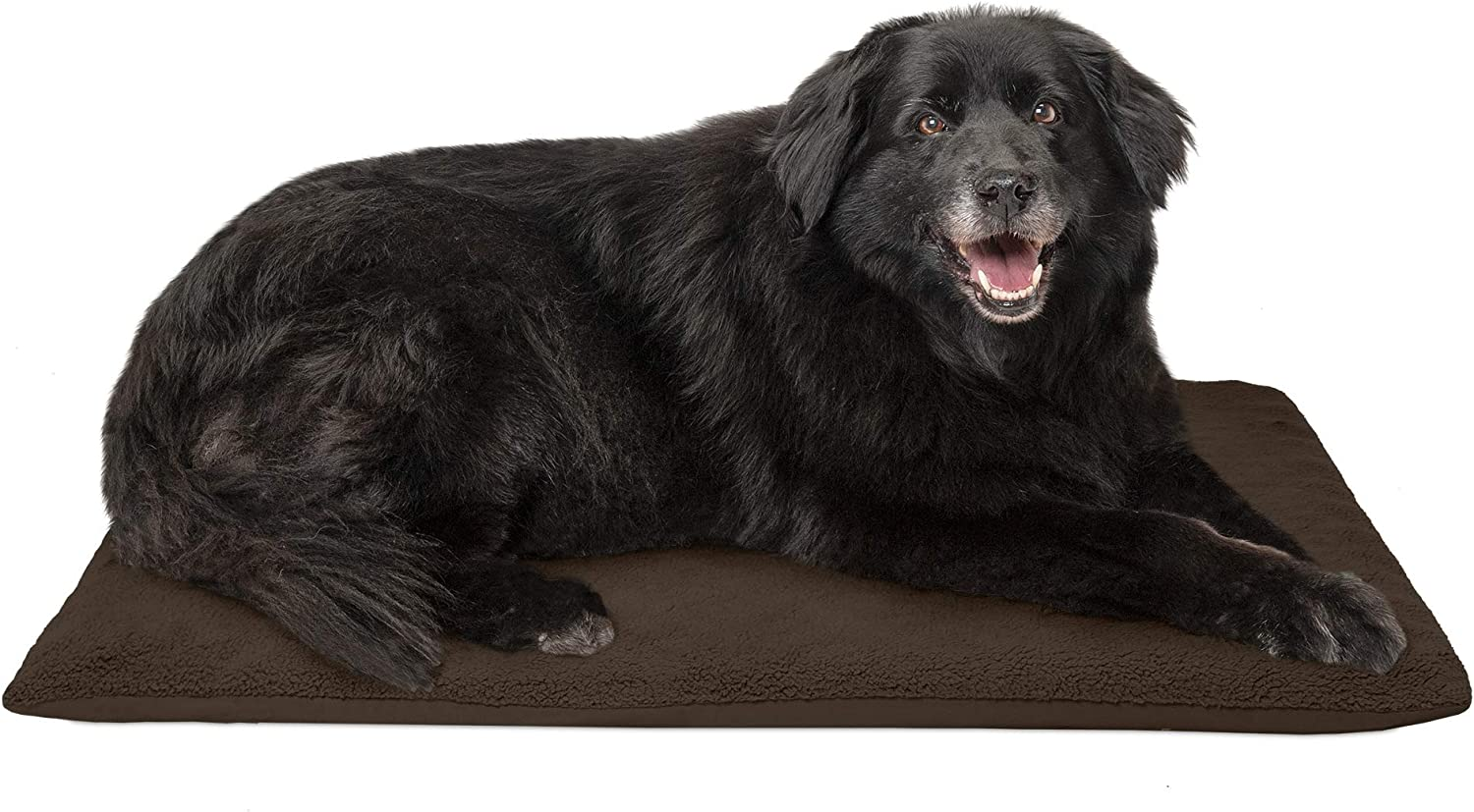 FurHaven Pet Dog Mattress   Terry Orthopedic Mat for Dogs & Cats, Espresso, Large