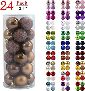 Christmas Balls Ornaments for Xmas Tree - Shatterproof Christmas Tree Decorations Perfect Hanging Ball Lavender Purple 1.6
