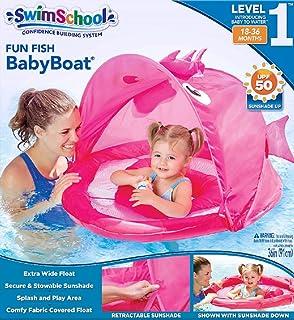 SwimSchool, Flotador de Piscina extra ancho, de 6 a 18 meses, UPF 50, Rosa