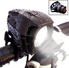 Bright Eyes Fully Waterproof 1600 Lumen Rechargeable Mountain, Road Bike Headlight, 6400mAh Battery (Now 5+ Hours on Bright Beam). Comes w/Free Diffuser Lens and Free TAILLIGHT