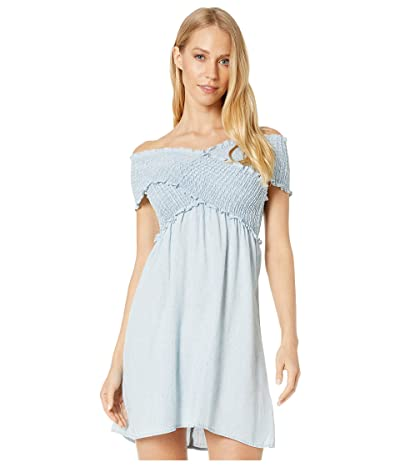 Show Me Your Mumu Mandy Smocked Dress (Light Chambray) Women