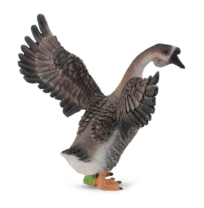 CollectA Farm Life Gander (Male Goose) Toy Figure - Authentic Hand Painted Model