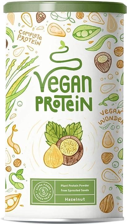 Proteine vegane alpha foods - gusto nocciola 600 gr AF-116