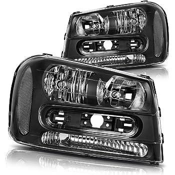 Sold in Pairs Anzo USA 111127 Chevrolet Trailblazer Black Projectors w//Halos Headlight Assembly