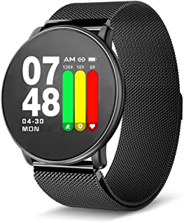 Papipets Smart Watch Fitness Tracker Sports Exercise Activity Tracking Heart Rate Touchscreen Band Sleep Monitoring Blood Pressure Oxygen Long Battery Life Compatible for Android & iOS Smartphones