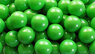 """Pack of 100 Green Color Jumbo 3"""" HD Commercial Grade Ball Pit Balls - Crush-Proof Phthalate Free BPA Free PVC Free Non-Tox..."""
