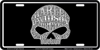 CHROMA 55001 Harley-Davidson Skull Stamped License Plate