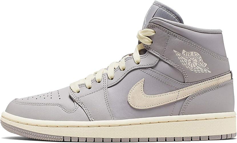 Nike Air Jordan 1 Mid Cd7240-002 Chaussures pour femme, gris (Gris ...