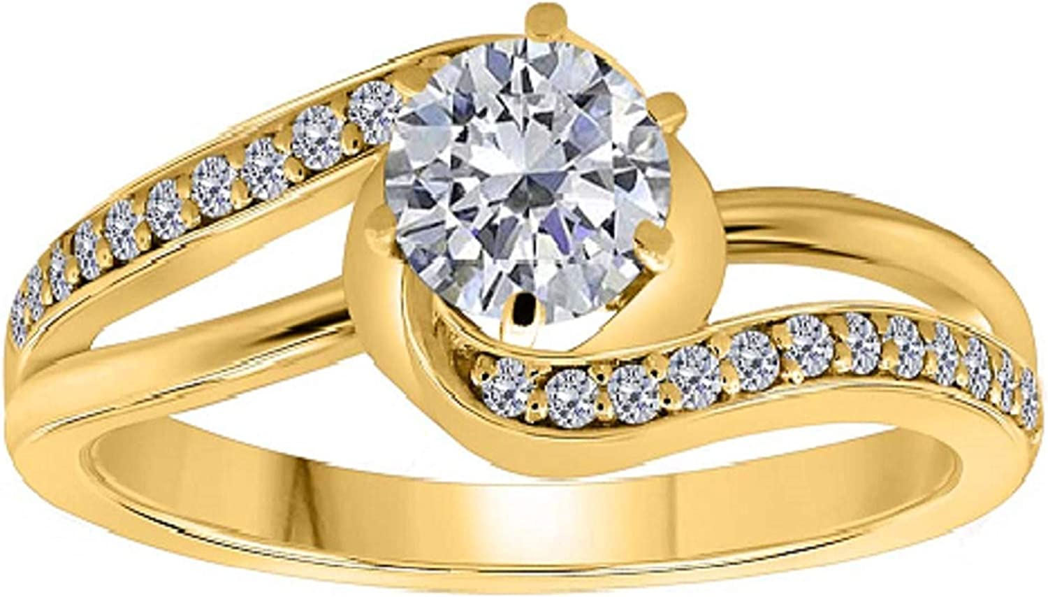 AoneJewelry 0.75 Daily bargain sale Carat Diamond 18K In Solid Sale Special Price Yell Engagement Ring