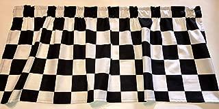 Window Curtain Valance Checkered Flag Race Car Sale 43 Wide x 15 Long