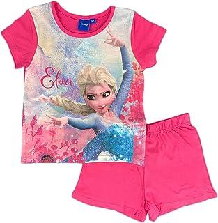 2581a0066e Pigiama Bambina Disney Frozen T-Shirt e Pantaloncino in Cotone Stampa Elsa  1024