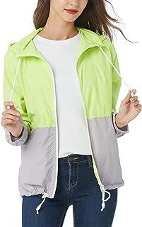 Women's Plus Size Raincoat Rain Jacket with Lined Hooded Waterproof Jacket Coat Windbreaker Rainwear 16-24W