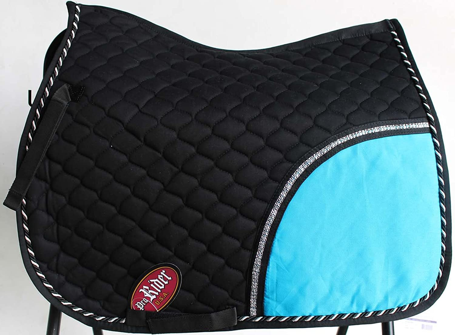 St. Charles Horse All Purpose Show Cotton Quilted English Saddle PAD Trail Turquoise 72F01R