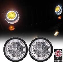 Hooke Road Jeep Wrangler 7 inch LED Headlights Amber Spider DRL Halo for 1997-2018 Jeep Wrangler TJ JK
