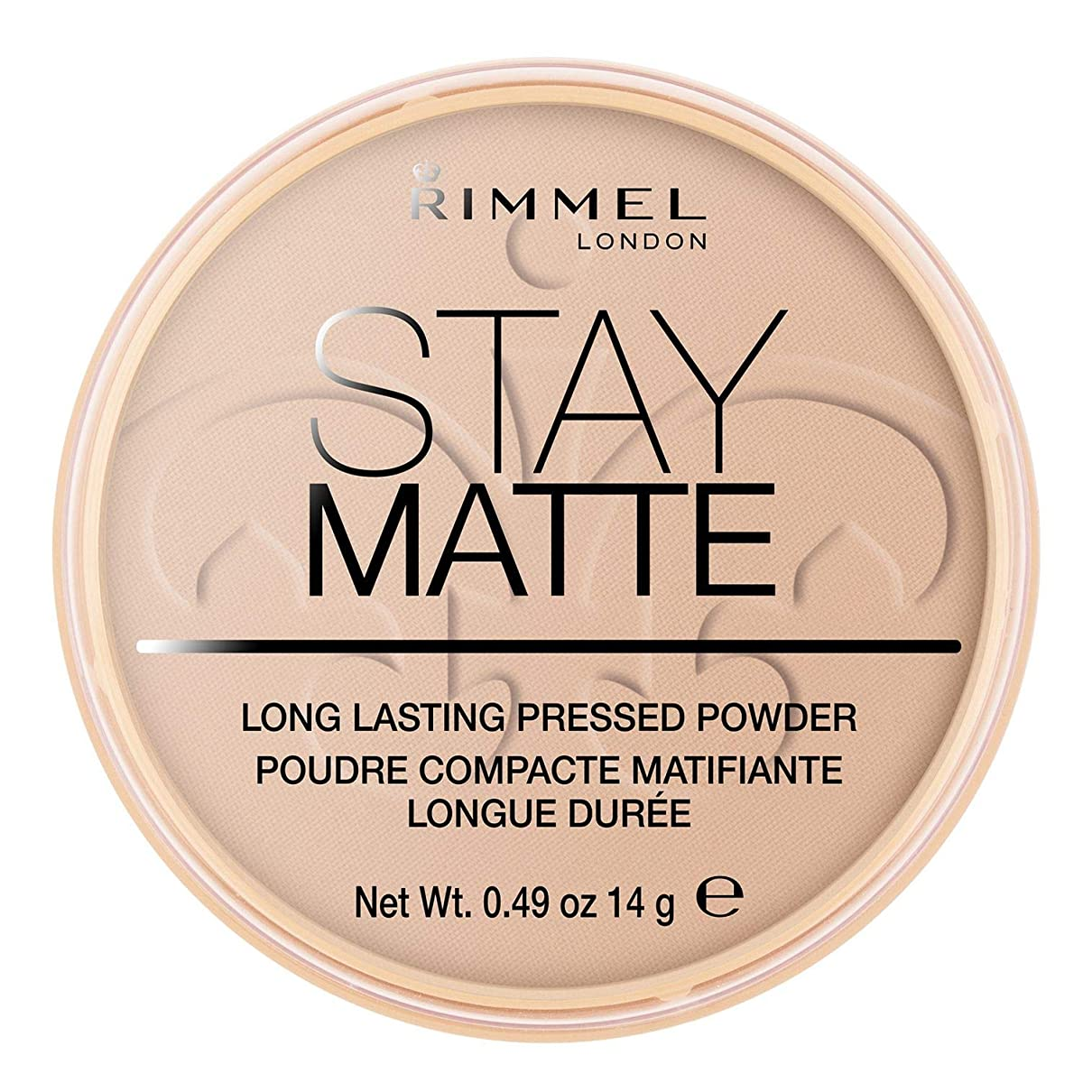 自己尊重バレエ間RIMMEL LONDON Stay Matte Long Lasting Pressed Powder - Silky Beige (並行輸入品)