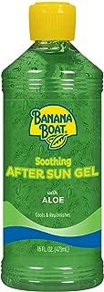 Banana Boat Aloe Vera Sun Burn Relief Sun Care After Sun Gel - 16 Ounce (Pack of 3)