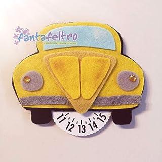Disco Orario per auto Maggiolone New Beetle - idea regalo simpatica uomo donna