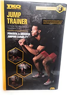 TKO Jump Trainer, Vertical Jump Trainer - Jump Training - Resistance Band, 7 piece