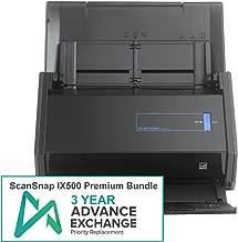 Fujitsu ScanSnap iX500 Premium Bundle with 3 Year Advanced Exchange Warranty