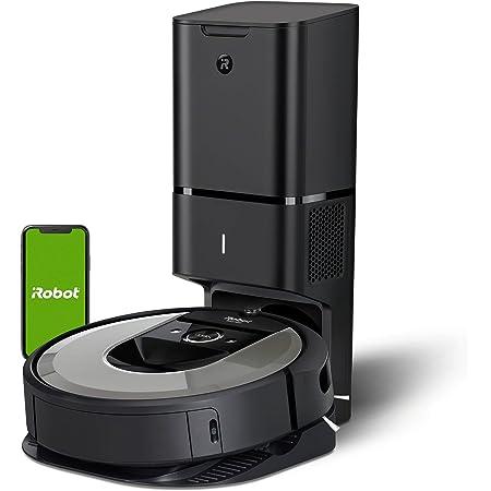 Robot aspirador iRobot Roomba i7+ (i7556) con Vaciado automático, Alta potencia, Para mascotas, Programa por habitación, Limpia por objeto, Sugerencias personalizadas, Compatible con asistentes voz