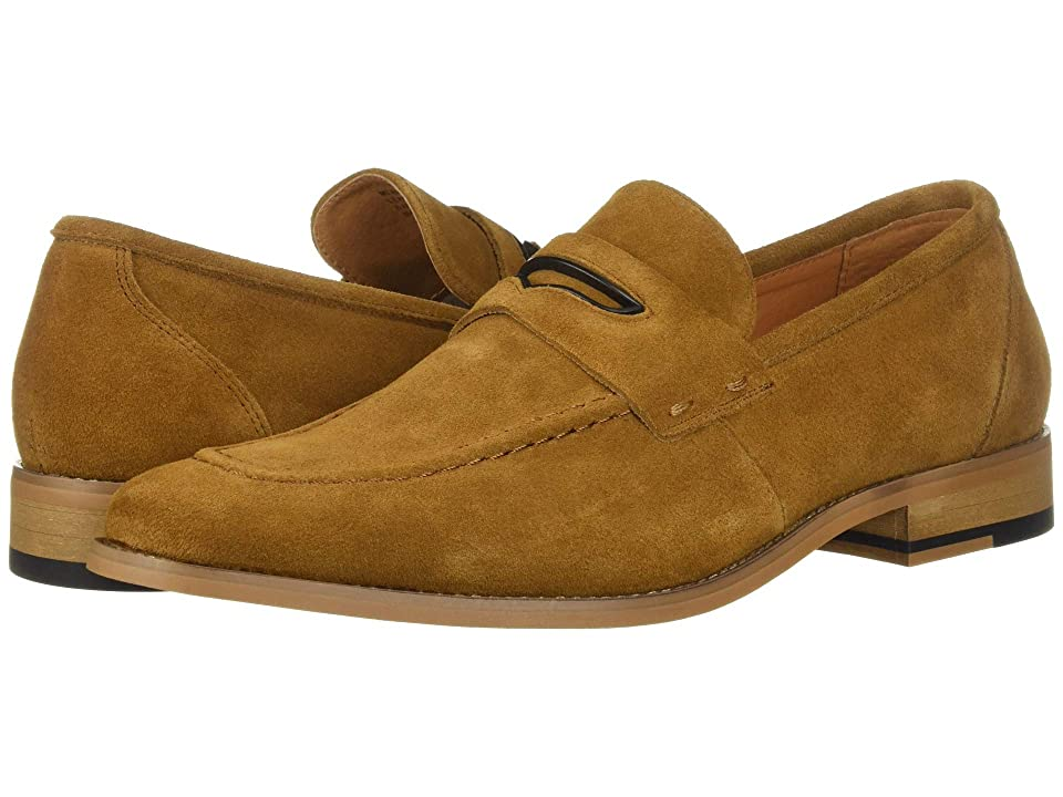 Stacy Adams Colfax Moc-Toe Slip-On Penny Loafer (Tan Suede) Men