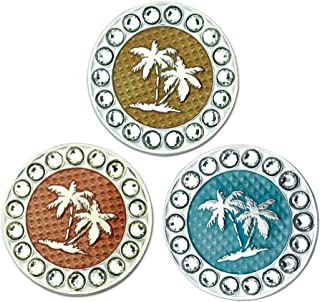 Myartte Golf Ball Markers Crystal Ball Markers can fit Magnetic Golf Hat Clips and Magnetic Divot Tools
