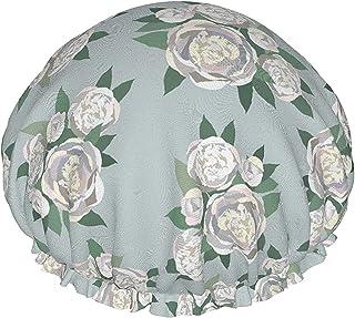Bukiet botaniczny kwiat białe kwiaty wodoodporna czapka prysznicowa z elastycznym brzegiem odwracalna konstrukcja do prysz...