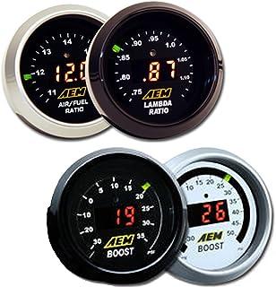 AEM 2 Gauge Display Set - UEGO WideBand A/F Ratio Gauge (30-4110) + Boost Pressure Gauge (30-4406)