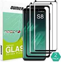 OUNIER Galaxy S8 Tempered Glass Screen Protector [2-Pack] [Easy Installation] [Case-Friendly], Samsung S8 Screen Protector with Installation Tray for Galaxy S8