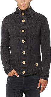 Lower East Cardigan, giacca in maglia da uomo con grandi bottoni in legno naturale
