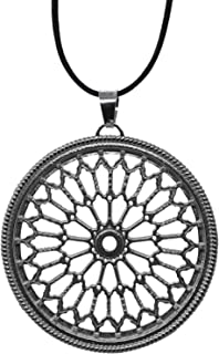 Landolfo Orafo - Pendente in argento 925, rosone di Sant'Agostino, Amatrice. Fatto a mano, artigianato italiano.