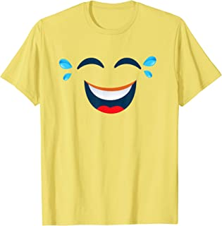 Emoji Halloween Costume Laughing Tears of Joy Emoji Yellow T-Shirt