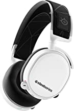 SteelSeries Arctis 7, Wireless Gaming Headset, DTS Headphone: X v2.0 Surround for PC and PlayStation 4, White
