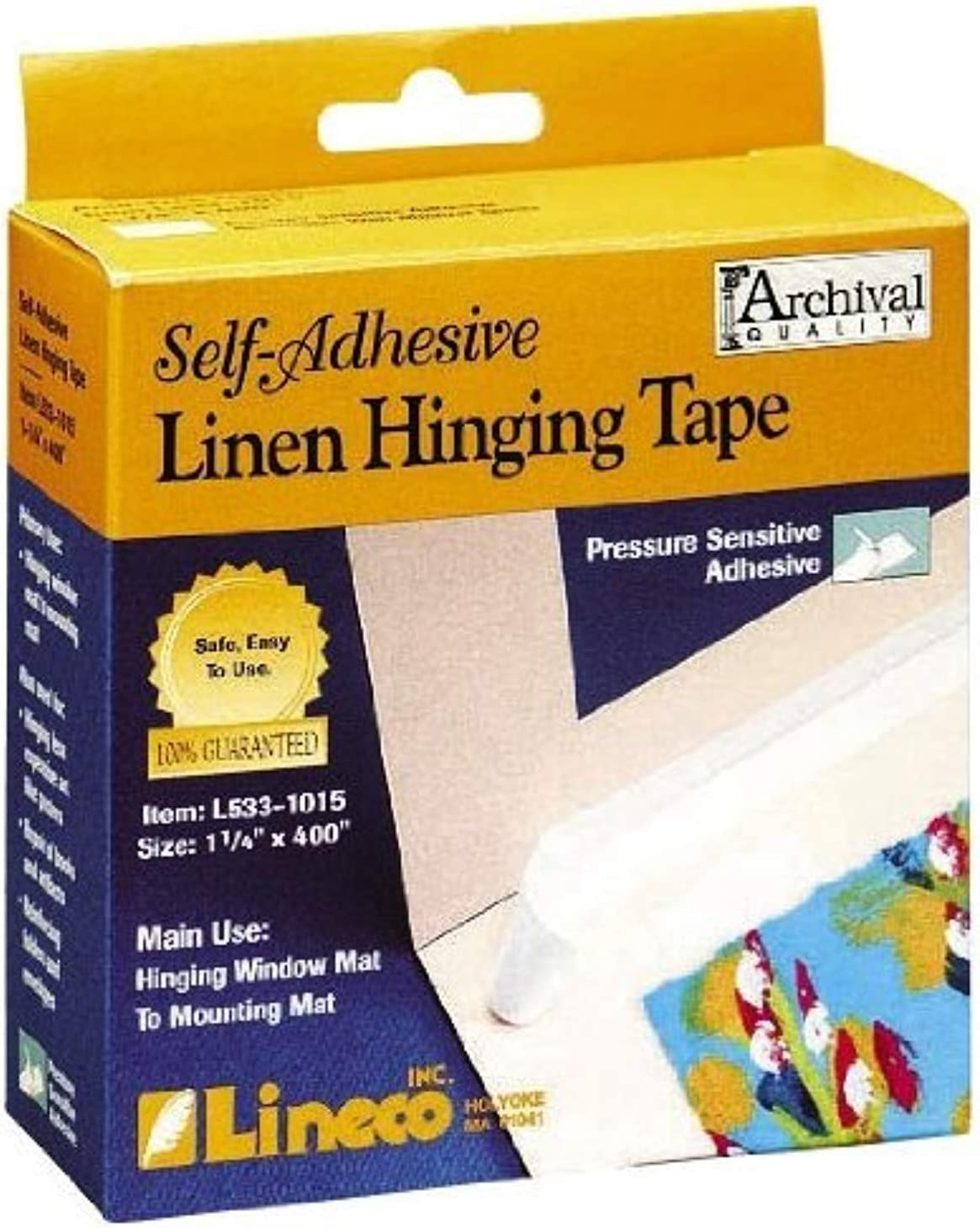 Lineco Self Adhesive Linen Hinging Tape Ranking TOP2 White In. 1.25 Ft. X Max 73% OFF 35