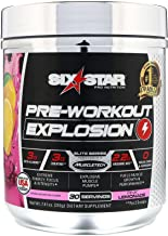 Six Star Explosion Pre Workout, Powerful Pre Workout Powder with Extreme Energy, Focus and Intensity , 7.41 Ounce (Pink lemonade)