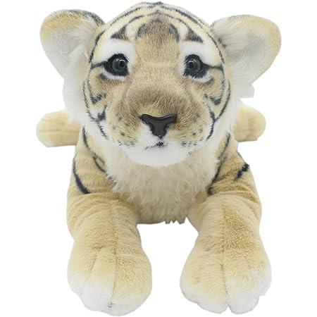 TAGLN おもちゃの動物ぬいぐるみ子供の枕誕生日プレゼント (40 CM, ブラウンタイガー)