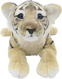 TAGLN The Jungle Animals Stuffed Plush Toys Tiger Leopard Panther Lioness Pillows (Brown Tiger, 16 Inch)