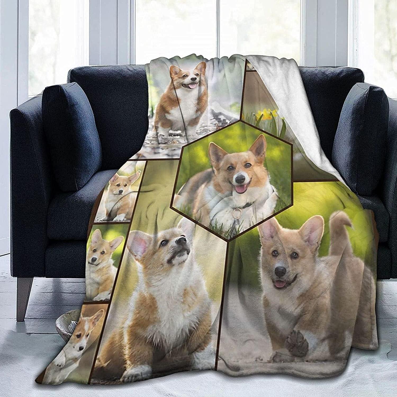 Cute Corgi Bed Miami Mall Blanket Breathable Sherpa Throw I 50