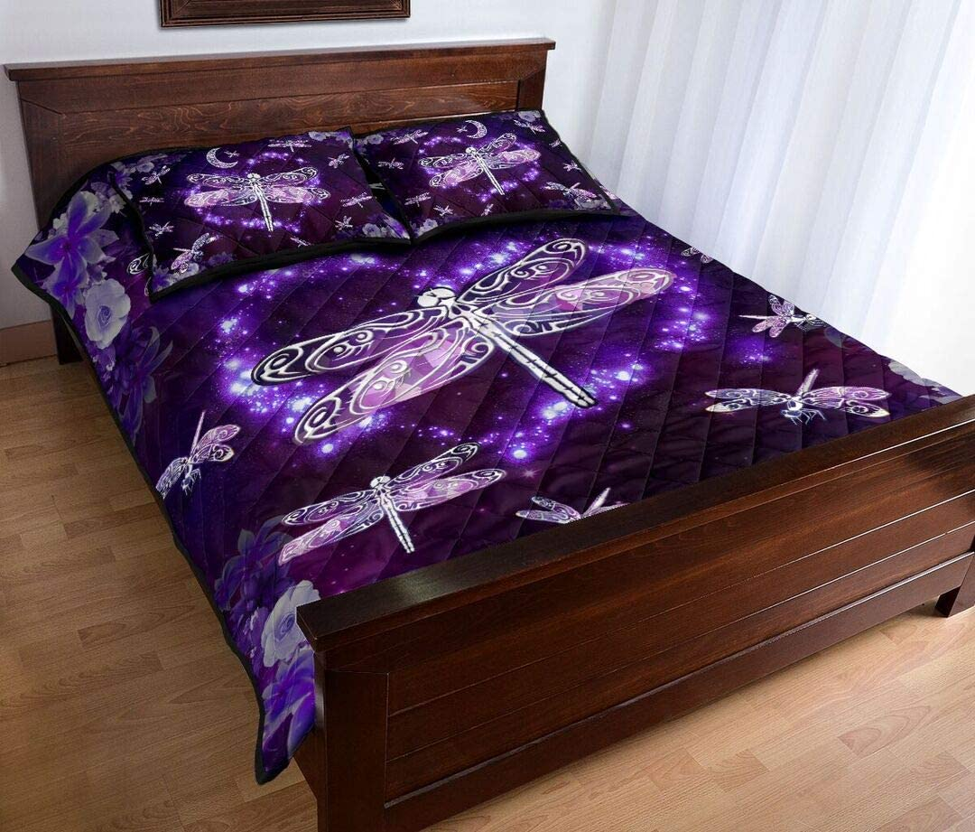 Personalized Dragonfly Spring new work one after another Quilt Sets Flower Bi Quantity limited to Bed Set