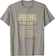 Sewing Machine Operator Dictionary Term T-Shirt