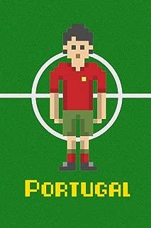 Portugal Soccer Pixel Art National Team Sports Cubicle Locker Mini Art Poster 8x12