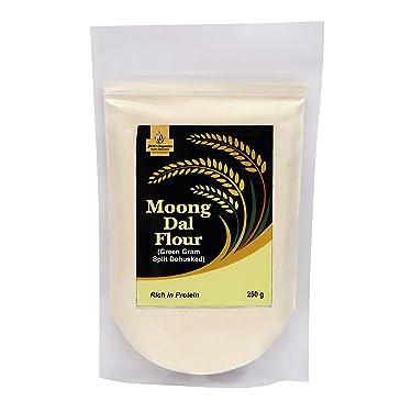 Jioo Organics Moong Dal Flour or Moong Dal Ka Atta   Pack of 250 Grams