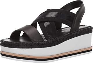Donald J Pliner Women's AUDREY01EM Wedge Sandal, Black/Clear, 9.5 B US
