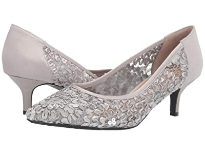 J. Renee Daray (Silver Ribbon Lace) High Heels