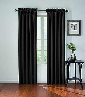 Eclipse 13699042X084BLK Corinne Blackout Window Curtain Panel, 42x84, Black