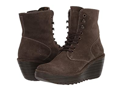 FLY LONDON YGOT588FLY (Sludge Oil Suede) Women